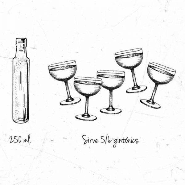 Cuanto sirve una botella de 250 ml de gin